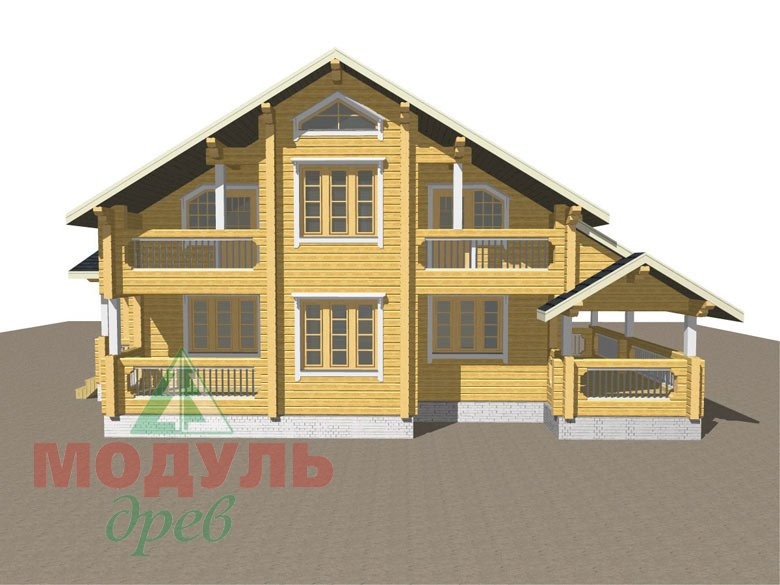 Дом из бруса «Новороссийск» - макет 2