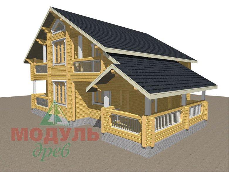 Дом из бруса «Новороссийск» - макет 3