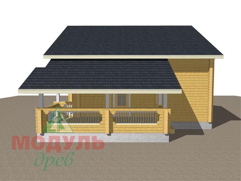 Дом из бруса «Новороссийск» - макет 4