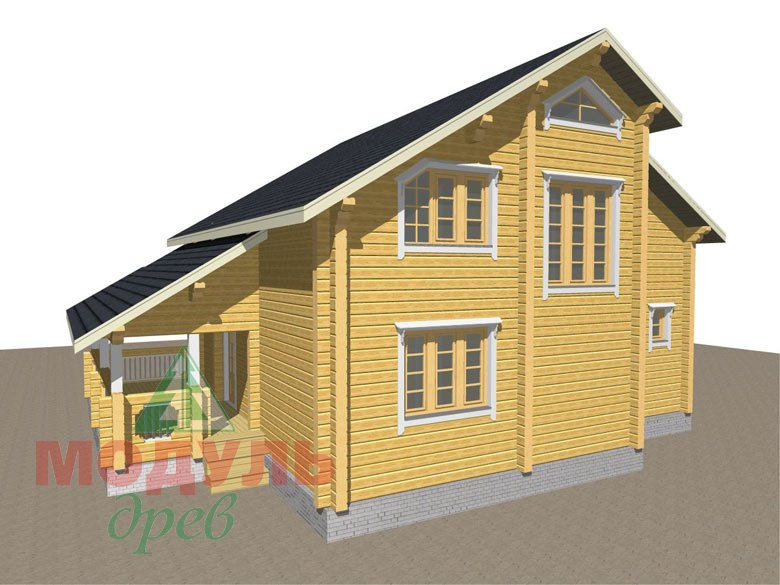 Дом из бруса «Новороссийск» - макет 5