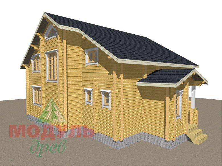 Дом из бруса «Новороссийск» - макет 7