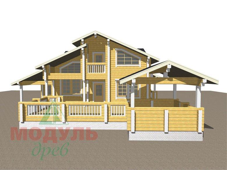 Проект дома из бруса «Октябрьск» - макет 2