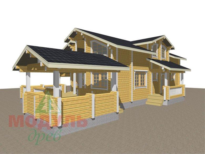 Проект дома из бруса «Октябрьск» - макет 3