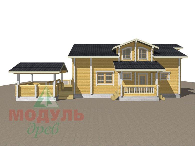 Проект дома из бруса «Октябрьск» - макет 4