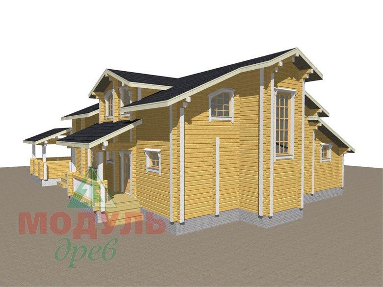 Проект дома из бруса «Октябрьск» - макет 5