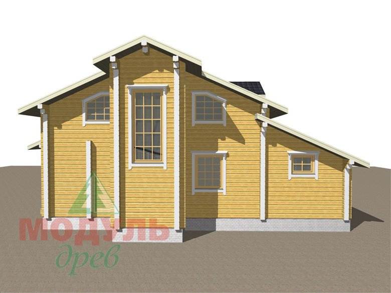 Проект дома из бруса «Октябрьск» - макет 6