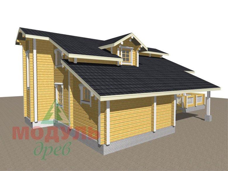 Проект дома из бруса «Октябрьск» - макет 7