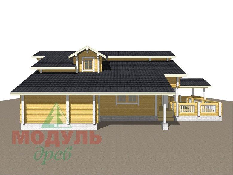 Проект дома из бруса «Октябрьск» - макет 8