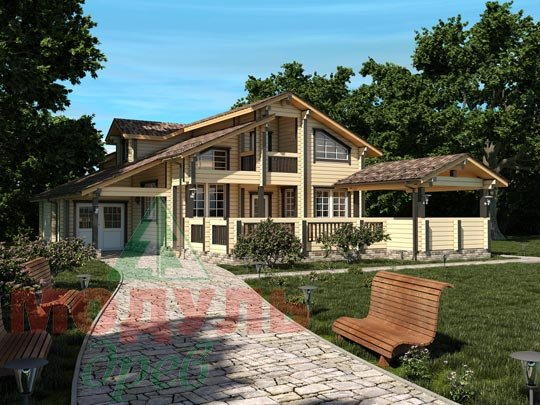 Оригинальный проект дома из бруса «Октябрьск»