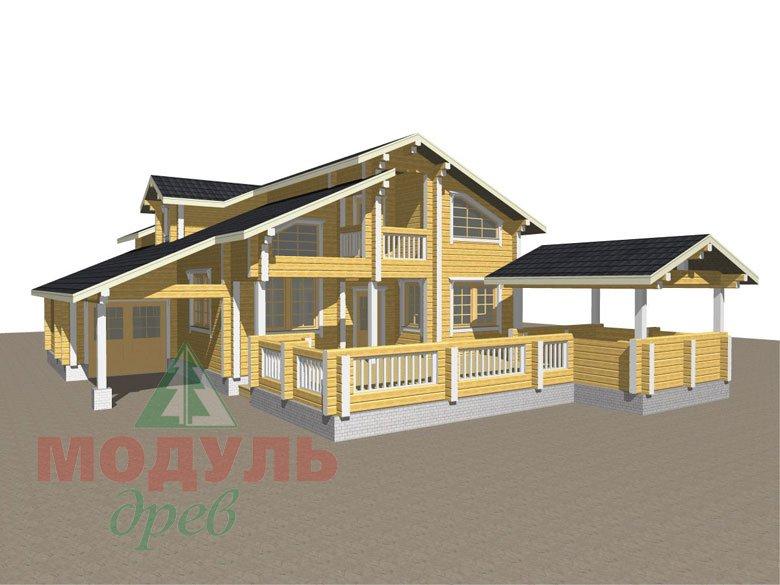 Проект дома из бруса «Октябрьск» - макет 1