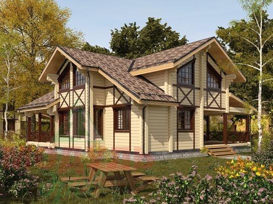 Проект дома из бруса «Орёл»