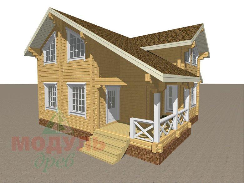 Проект дома из бруса «Орёл» - макет 1
