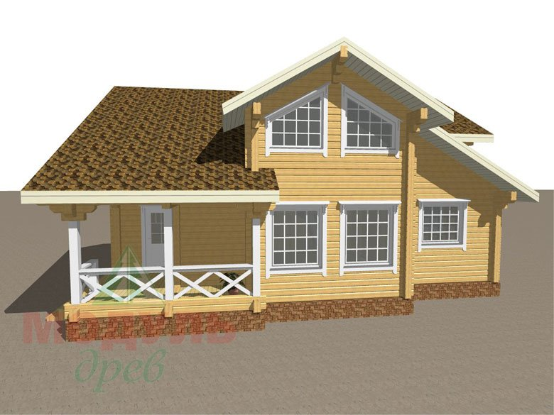 Дом из бруса «Орёл» - макет 2