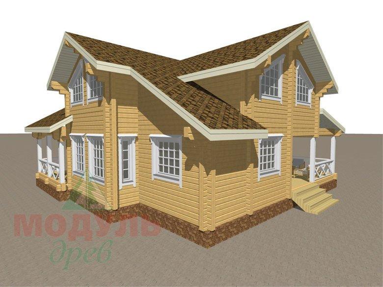 Дом из бруса «Орёл» - макет 3