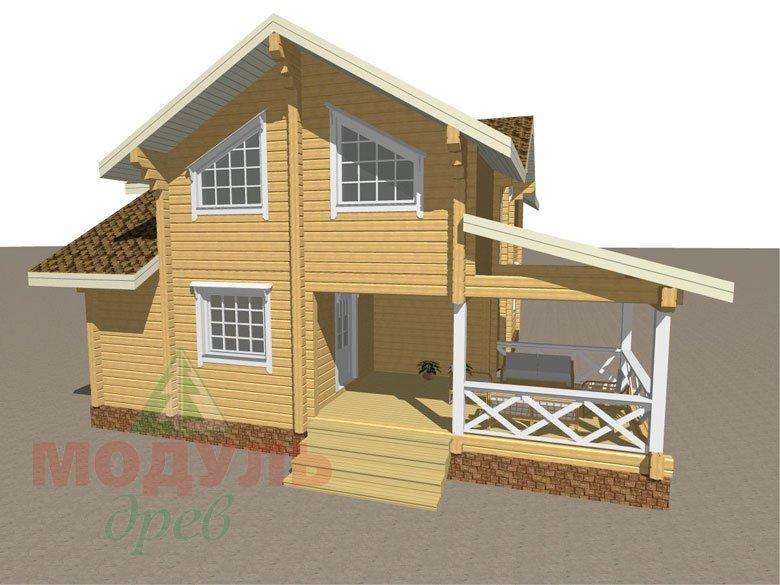 Дом из бруса «Орёл» - макет 4