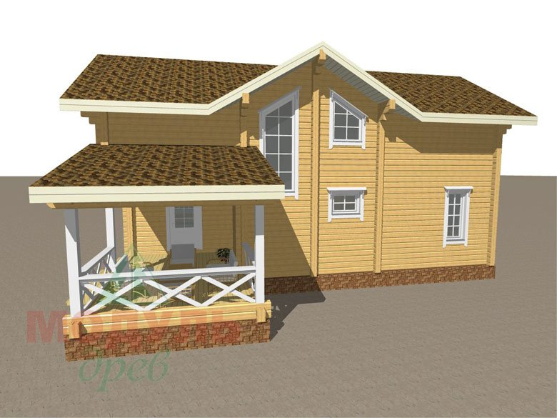 Дом из бруса «Орёл» - макет 5