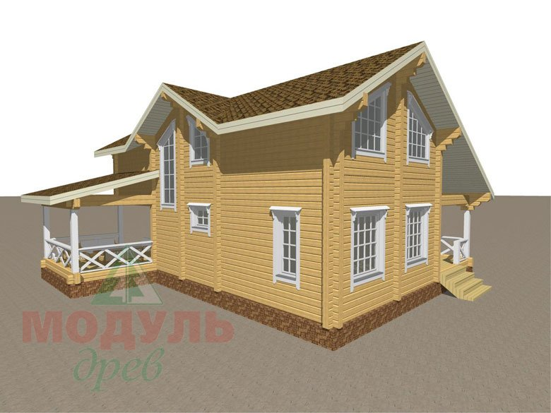 Дом из бруса «Орёл» - макет 6