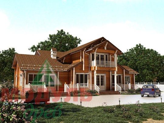 Проект дома из бруса «Орион»