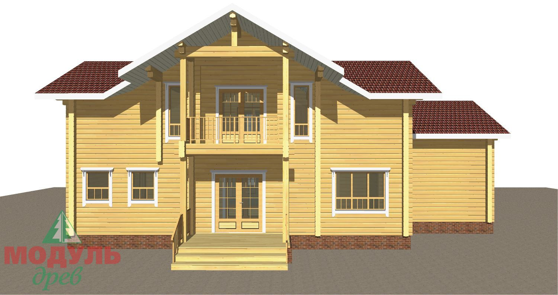 Проект дома из бруса «Орион» - макет 1