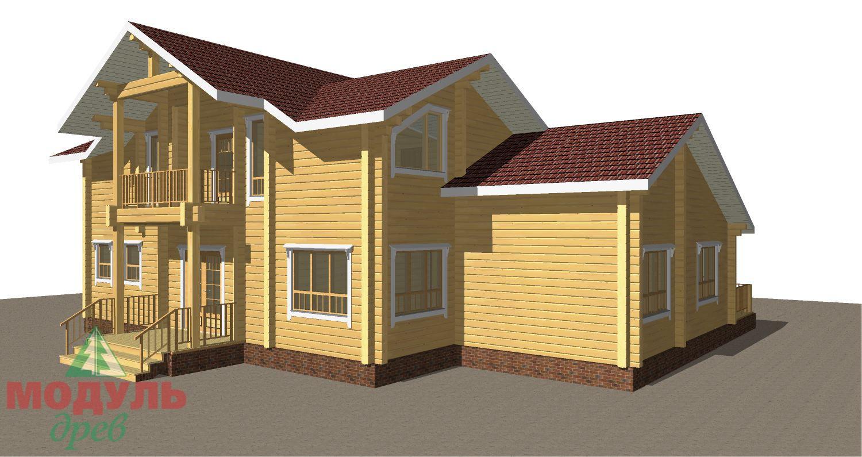 Проект дома из бруса «Орион» - макет 2