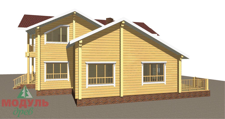 Проект дома из бруса «Орион» - макет 3