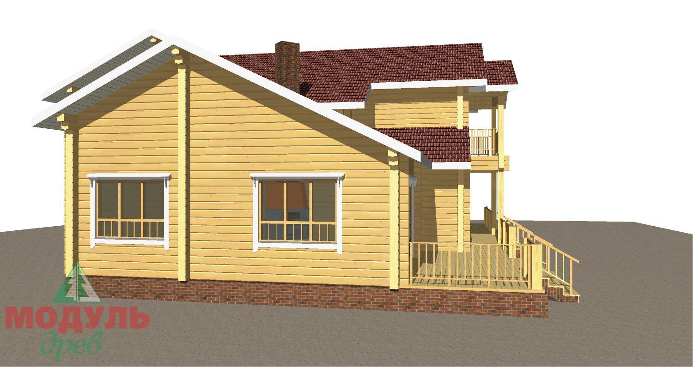 Проект дома из бруса «Орион» - макет 4