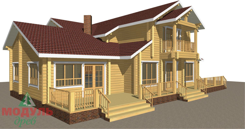 Проект дома из бруса «Орион» - макет 5