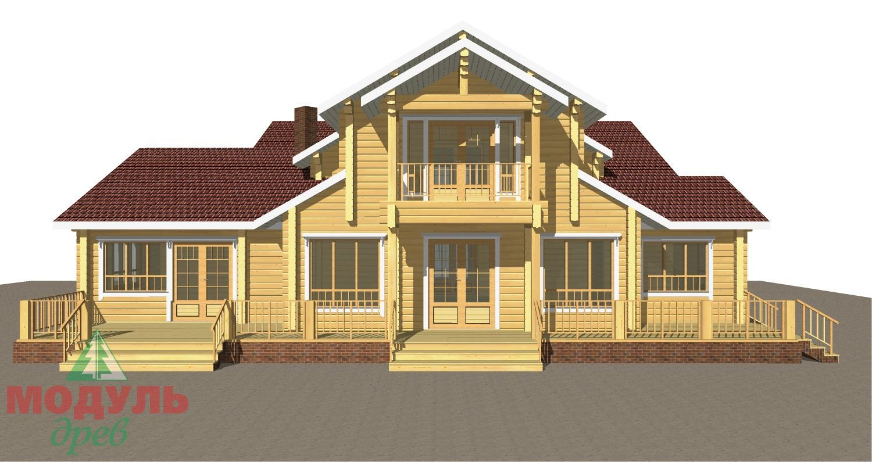 Проект дома из бруса «Орион» - макет 6