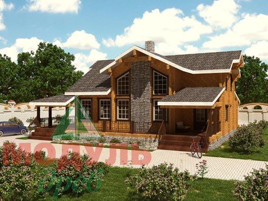 Деревянный дом из бруса «Отрадное»