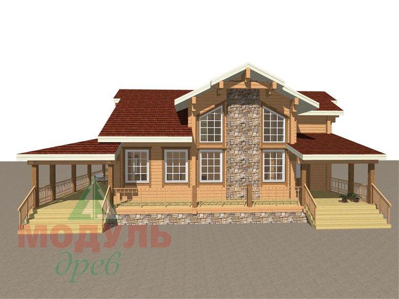 Деревянный дом из бруса «Отрадное» - макет 1
