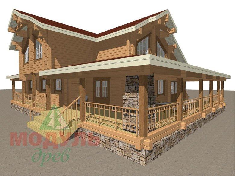 Деревянный дом из бруса «Отрадное» - макет 4