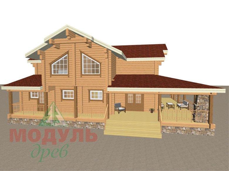 Деревянный дом из бруса «Отрадное» - макет 5