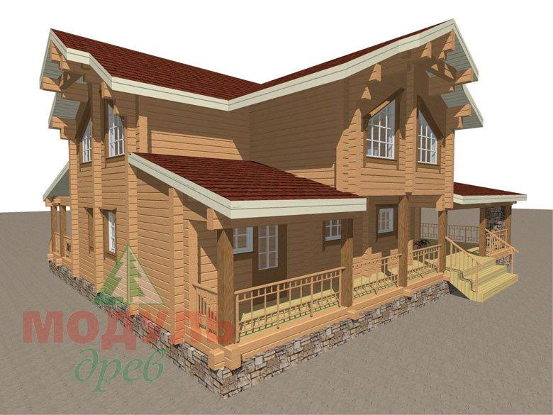 Деревянный дом из бруса «Отрадное» - макет 6