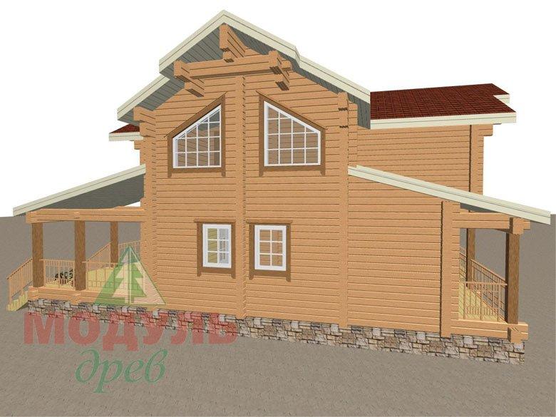 Деревянный дом из бруса «Отрадное» - макет 7