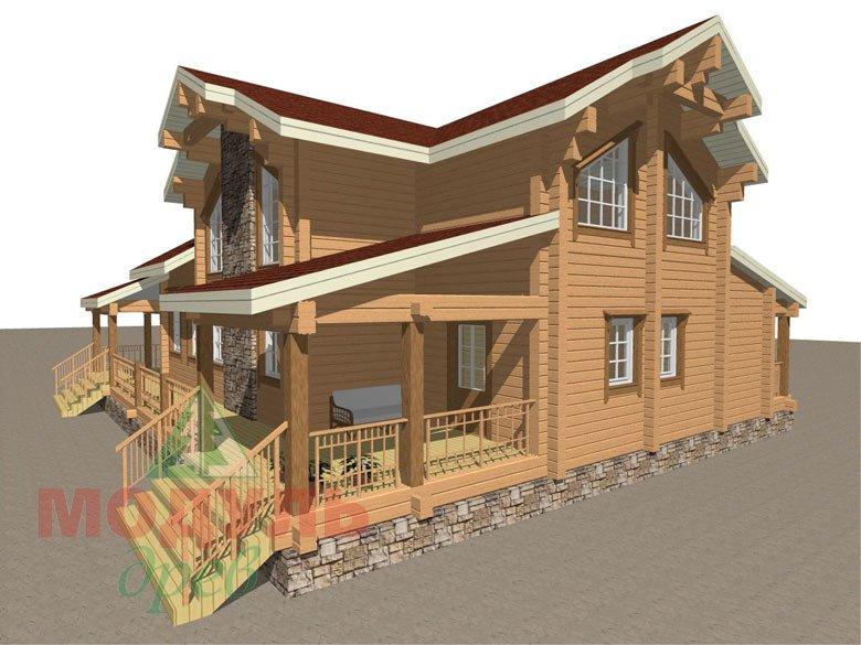 Деревянный дом из бруса «Отрадное» - макет 8