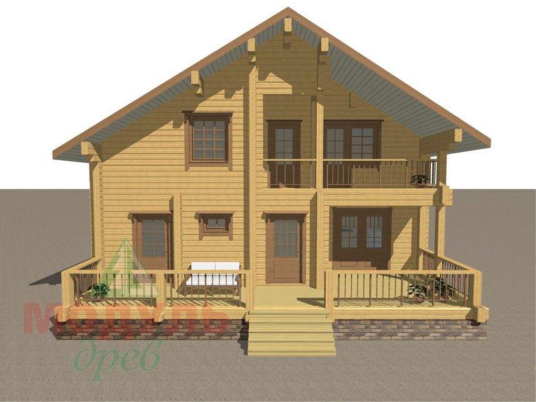 Деревянный брусовой дом «Переславль» - макет 1