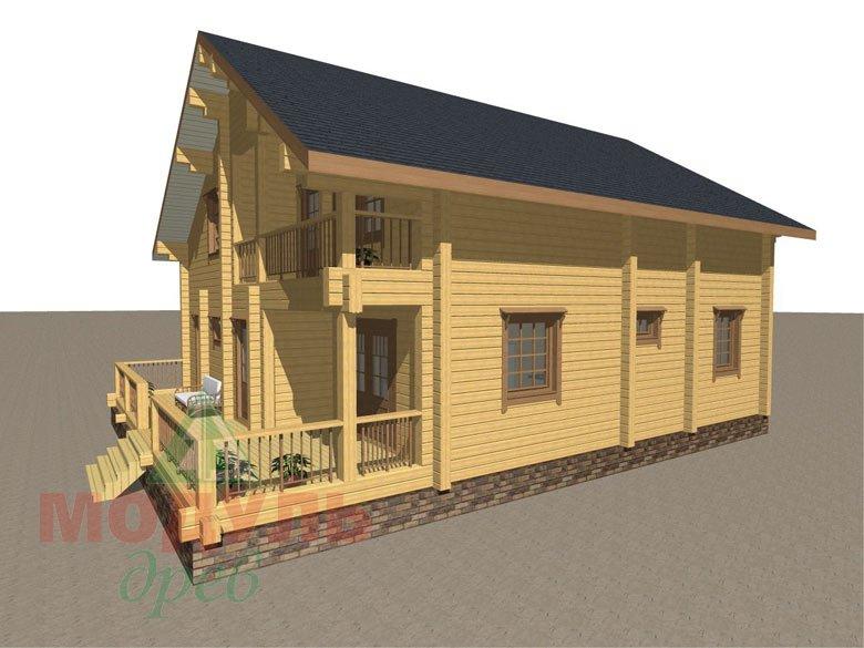 Деревянный брусовой дом «Переславль» - макет 2
