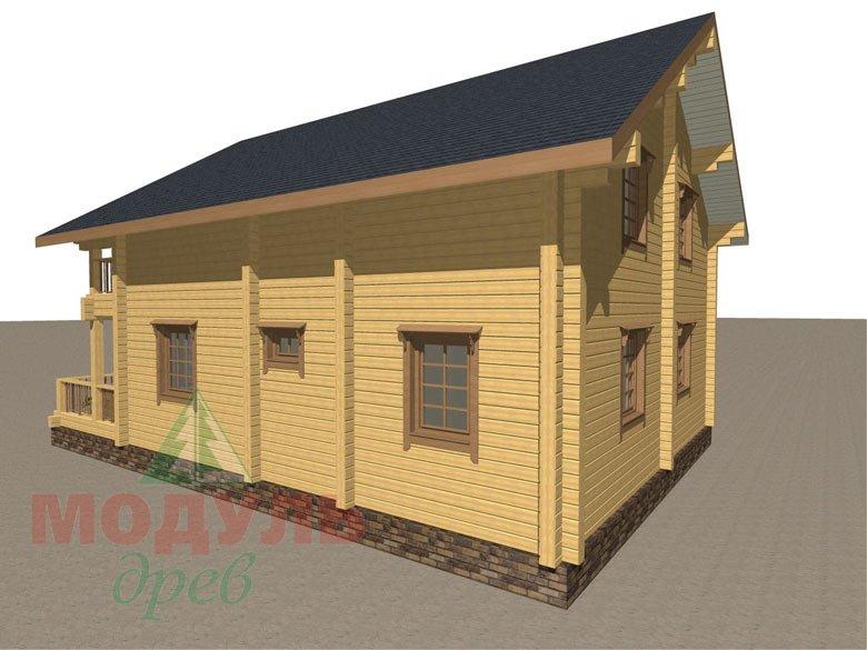 Деревянный брусовой дом «Переславль» - макет 3