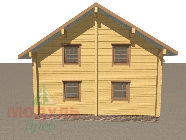 Деревянный брусовой дом «Переславль» - макет 4