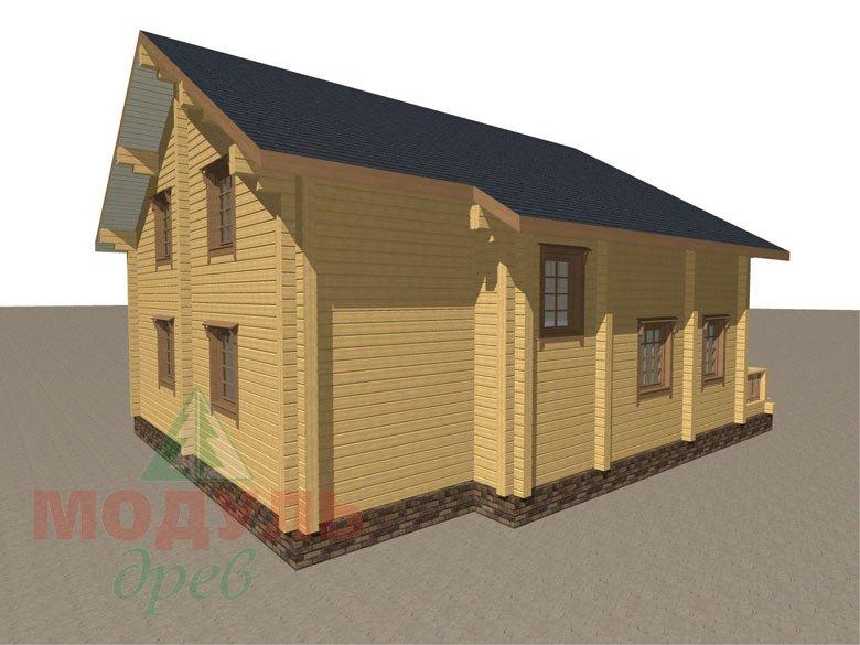 Деревянный брусовой дом «Переславль» - макет 5