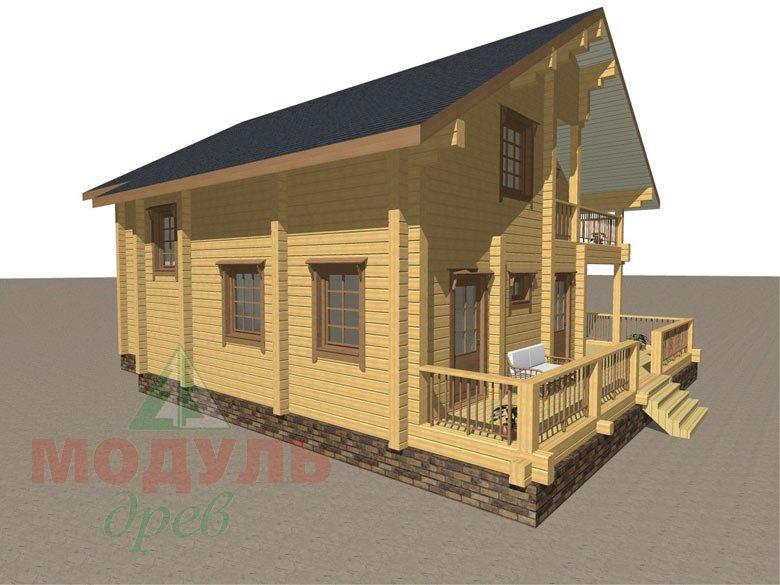 Деревянный брусовой дом «Переславль» - макет 6