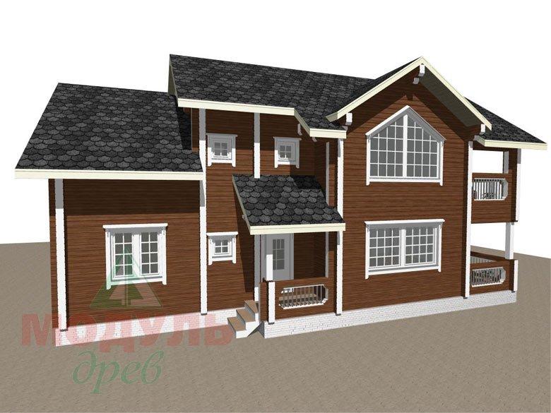 Проект загородного дома «Петрозаводск» - макет