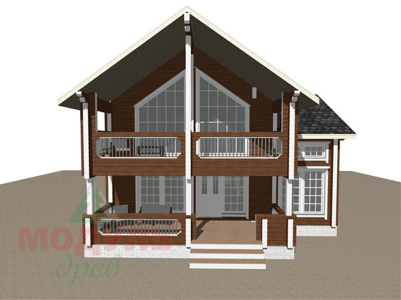 Проект дома из бруса «Петрозаводск» - макет 3