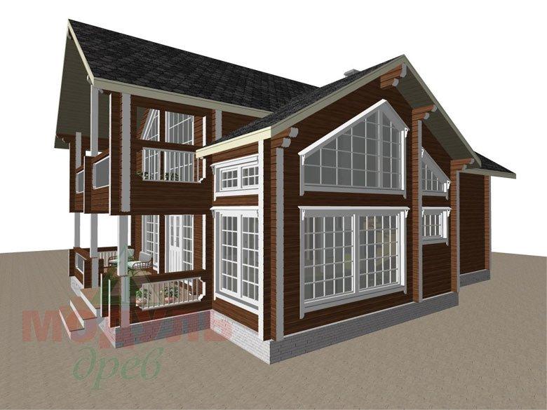 Проект дома из бруса «Петрозаводск» - макет 4
