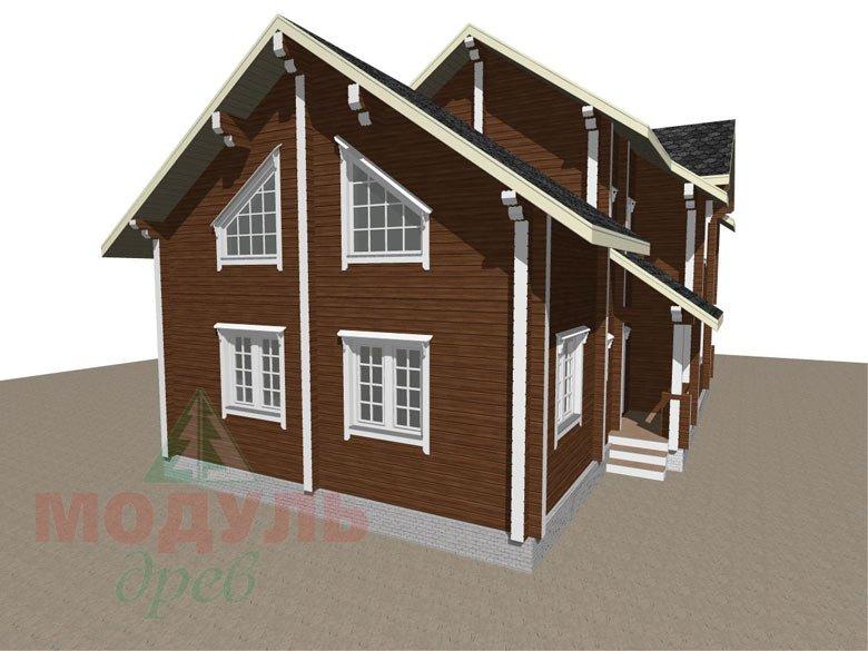 Проект дома из бруса «Петрозаводск» - макет 7