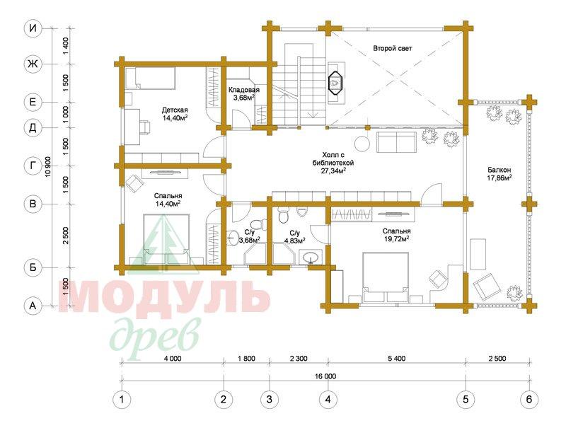 Проект загородного дома «Петрозаводск» - планировка