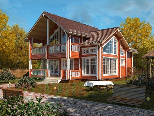 Проект загородного дома «Петрозаводск»