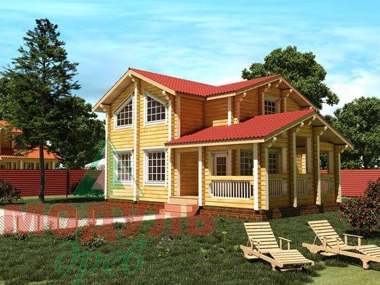 Проект дома из бруса «Череповец»
