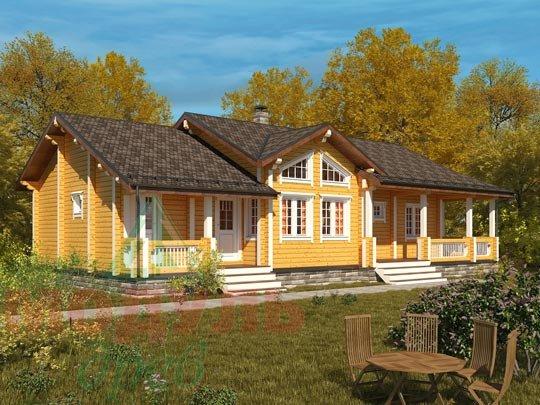 Проект дома из бруса «Пятигорск»