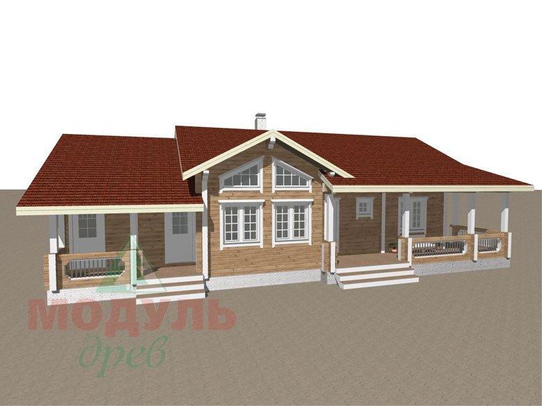Проект дома из бруса «Пятигорск» - макет 1